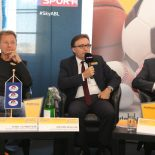 22.09.2016 Basketball ABL 2016/17, ABL Pressekonferenz  vs.   Im Bild: Karl Schweizer (ABL Präsident), Jürgen Irsiegler (Admiral), Gerfried Pröll (SKY)   Copyright Pictorial / M.Filippovits  office@pictorial.at www.pictorial.at