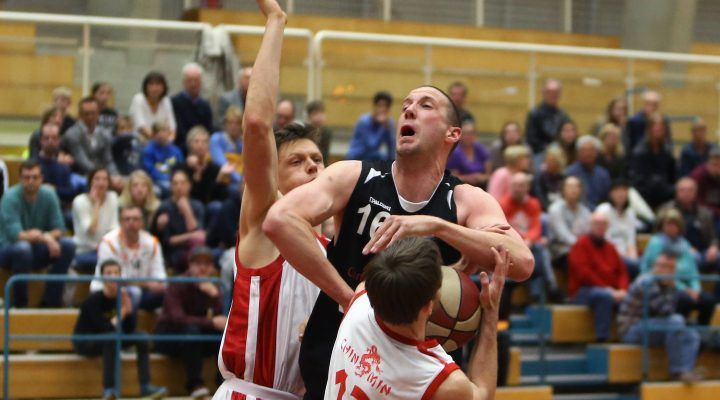 23.04.2017 Basketball 2.Bundesliga 2016/17, Semifinale Spiel 1 UBC St.Pölten vs. Mattersburg Rocks Im Bild (v.l.n.r.):  Copyright Pictorial / M.Filippovits<a href=