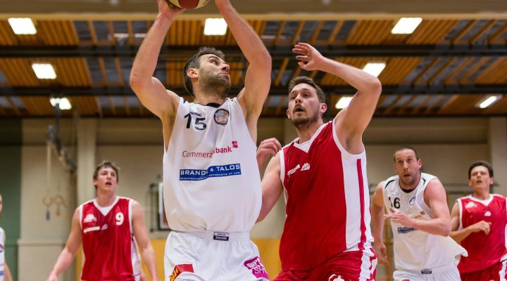 29.04.2017 Basketball 2.Bundesliga Playoff Semifinale Spiel 2 Mattersburg Rocks vs. UBC St.Pölten Im Bild: Ramiz Suljanovic (15)   Copyright: Pictorial / M.Proell  office@pictorial.at www.pictorial.at