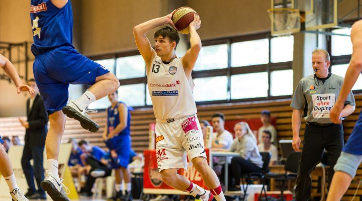 09.04.2017 Basketball 2.Bundesliga Playoff VF Spiel 1 Mattersburg Rocks vs. Vienna D.C. Timberwolves Im Bild: Benjamin BERNLEITHNER (13)   Copyright: Pictorial / M.Proell  office@pictorial.at www.pictorial.at