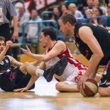 01.05.2017 Basketball 2.Bundesliga Playoff Semifinale Spiel 3 UBC St.Pölten vs. Mattersburg Rocks Im Bild: Hannes Obermann (15)   Copyright: Pictorial / M.Proell  office@pictorial.at www.pictorial.at